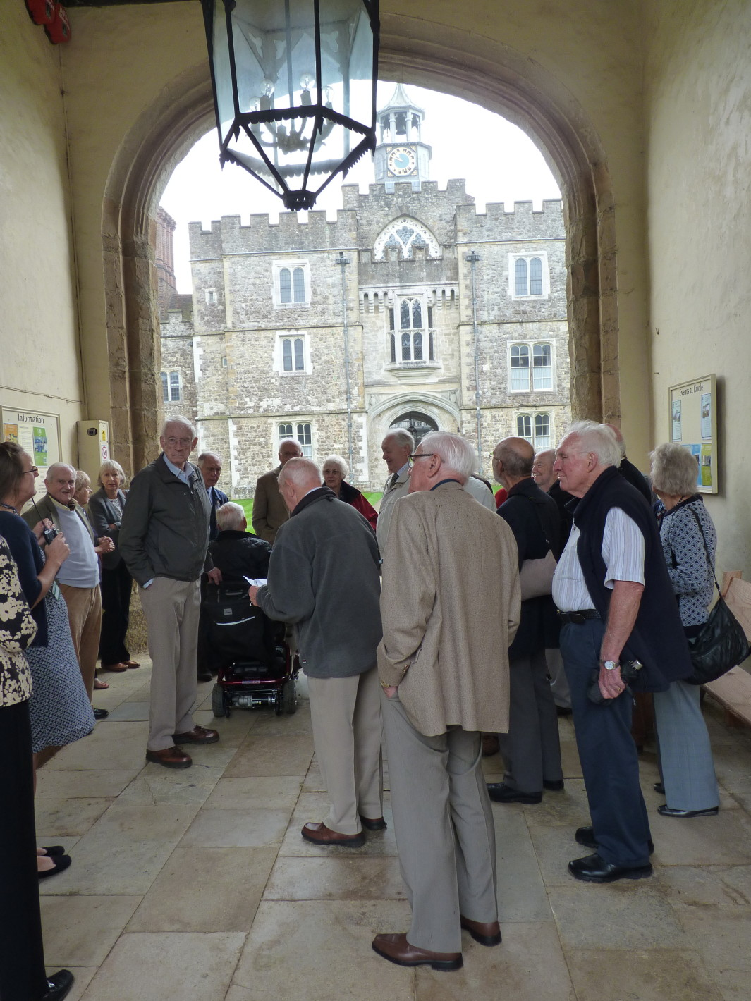 Arriving for tour of Knole House